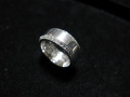 silvery white RING small