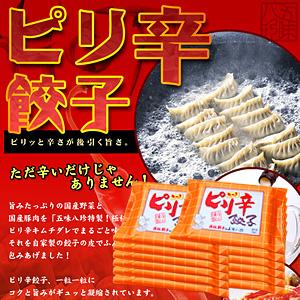 ピリ辛餃子(キムチ餃子) 168個入(14個×12P)【浜松餃子の五味八珍】