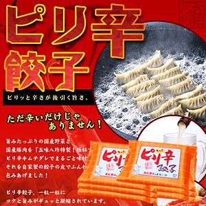 ピリ辛餃子(キムチ餃子) 84個入(14個×6P)【浜松餃子の五味八珍】