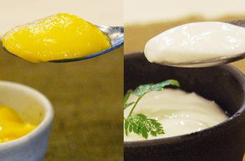 杏仁豆腐3個とマンゴープリン3個のセット:中華スイーツ【浜松餃子の五味八珍】