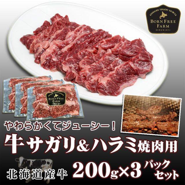特撰牛上さがり上ハラミ焼肉用 200g × 3パックセット