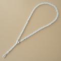 Hパーツネックレス ホワイト 50cm