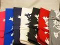 カラーバリエーション豊富な帆布染め抜き竹刀袋 3本入用