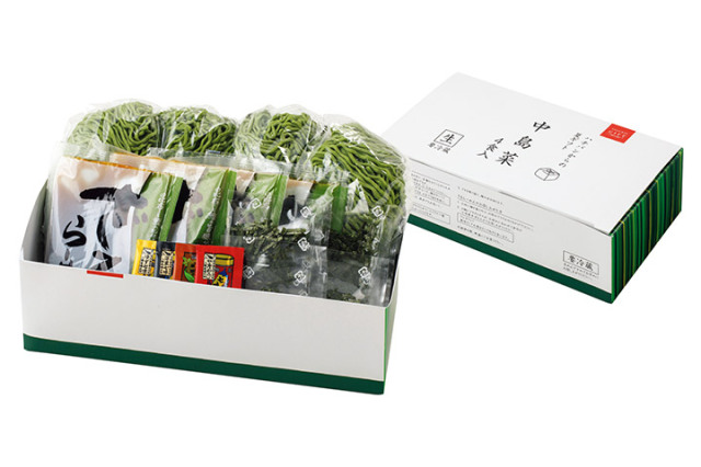 八番麺 能登中島菜ざるらーめん(4食入り)