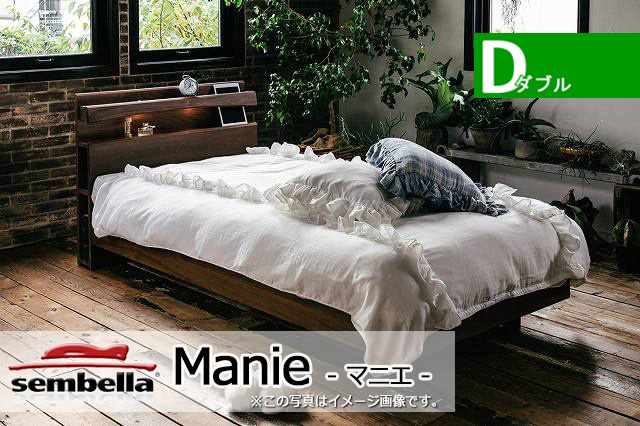 木製ベッドフレーム(マットレス別売) Manie マニエ ダブルサイズ -床板すのこタイプ-