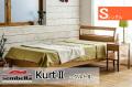 木製ベッドフレーム(マットレス別売) Kurt2 クルト シングルサイズ -ウッドスプリング仕様-