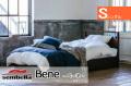 木製ベッドフレーム(マットレス別売) Bene ベーネ シングルサイズ -床板すのこ・引出し付タイプ-