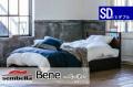 木製ベッドフレーム(マットレス別売) Bene ベーネ セミダブルサイズ -床板すのこ・引出し付タイプ-