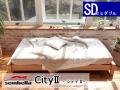 木製ベッドフレーム(マットレス別売) City2 シティー2 セミダブルサイズ