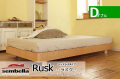 木製ベッドフレーム(マットレス別売) Ruskラスク ヘッドレス ダブルサイズ -ウッドスプリング仕様-