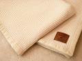 イタリアのウール毛布 ワッフルケット