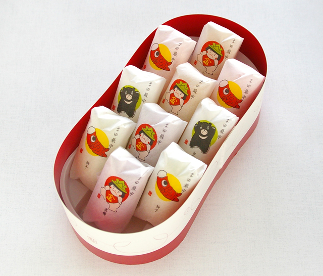 【こどもの日限定】金太郎の日のまゆ最中 10個入ギフトボックス彩