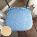 【数量限定】シートクッション 馬蹄型 ひも付き 【フィオナ】 いす用 スペイン生地 日本製 おしゃれ ダイニングチェア クッション