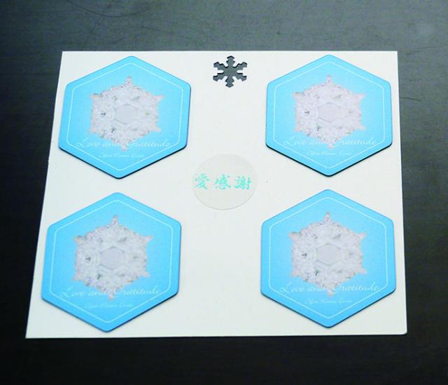 愛感謝の結晶マグネットステッカー 4枚セット