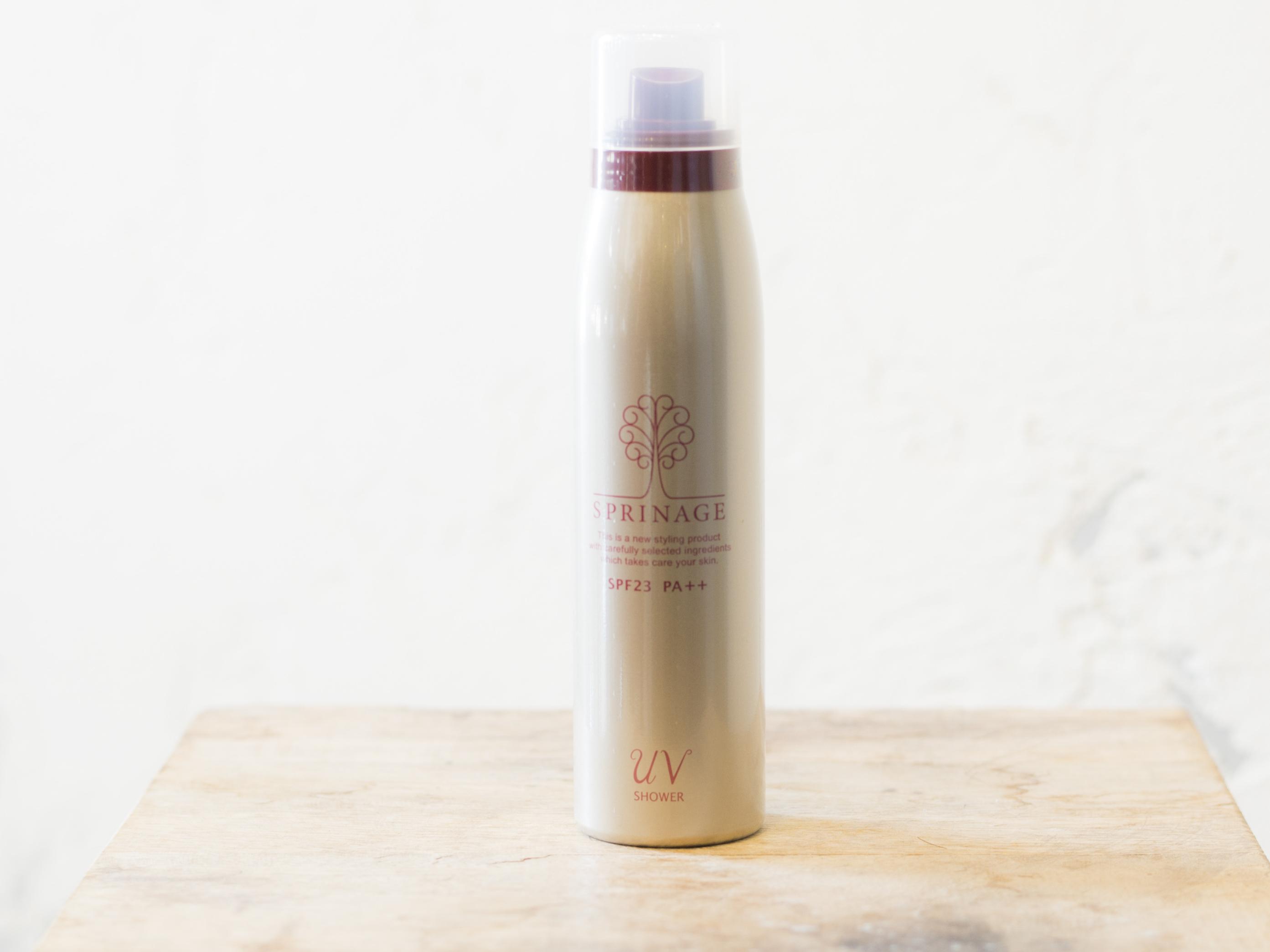 スプリナージュ UV シャワー☆肌をさらさら、髪をツヤやかにする。髪、頭皮、肌に使用可能な紫外線ケアスプレー  SPF23 PA++