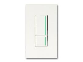 NKシリーズ配線器具3路ガイドランプ付スイッチダブルセット1連用プレート付-ピュアホワイト 神保電器(JIMBO)