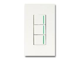 NKシリーズ配線器具3路ガイドランプ付スイッチトリプルセット1連用プレート付-ピュアホワイト 神保電器(JIMBO)