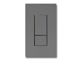 NKシリーズ配線器具3路スイッチダブルセット1連用プレート付-ソリッドグレー・ソフトブラック 神保電器(JIMBO)