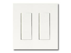 NKシリーズ配線器具3路スイッチセット(シングル+シングル)2連用プレート付-ピュアホワイト 神保電器(JIMBO)