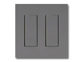 NKシリーズ配線器具3路スイッチセット(シングル+シングル)2連用プレート付-ソリッドグレー・ソフトブラック 神保電器(JIMBO)