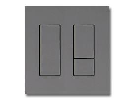 NKシリーズ配線器具3路スイッチセット(シングル+ダブル)2連用プレート付-ソリッドグレー・ソフトブラック 神保電器(JIMBO)