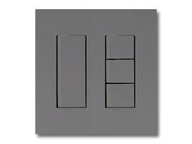 NKシリーズ配線器具3路スイッチセット(シングル+トリプル)2連用プレート付-ソリッドグレー・ソフトブラック 神保電器(JIMBO)