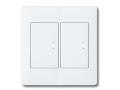 アドバンスシリーズ配線器具スイッチセット2連用プレート付-マットホワイト ほたるスイッチB(片切)×2 パナソニック(Panasonic)
