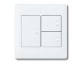 アドバンスシリーズ配線器具スイッチセット2連用プレート付-マットホワイト ほたるスイッチB(片切)×3 パナソニック(Panasonic)