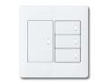 アドバンスシリーズ配線器具スイッチセット2連用プレート付-マットホワイト ほたるスイッチB(片切)×4 パナソニック(Panasonic)