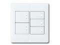 アドバンスシリーズ配線器具スイッチセット2連用プレート付-マットホワイト ほたるスイッチB(片切)×5 パナソニック(Panasonic)