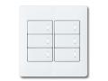 アドバンスシリーズ配線器具スイッチセット2連用プレート付-マットホワイト ほたるスイッチB(片切)×6 パナソニック(Panasonic)