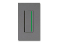 NKシリーズ配線器具3路ガイドランプ付スイッチシングルセット1連用プレート付-ソリッドグレー・ソフトブラック 神保電器(JIMBO)