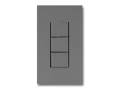 NKシリーズ配線器具3路スイッチトリプルセット1連用プレート付-ソリッドグレー・ソフトブラック 神保電器(JIMBO)