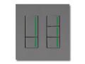 NKシリーズ配線器具3路ガイドランプ付スイッチセット(ダブル+トリプル)2連用プレート付-ソリッドグレー・ソフトブラック 神保電器(JIMBO)
