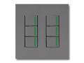 NKシリーズ配線器具3路ガイドランプ付スイッチセット(トリプル+トリプル)2連用プレート付-ソリッドグレー・ソフトブラック 神保電器(JIMBO)