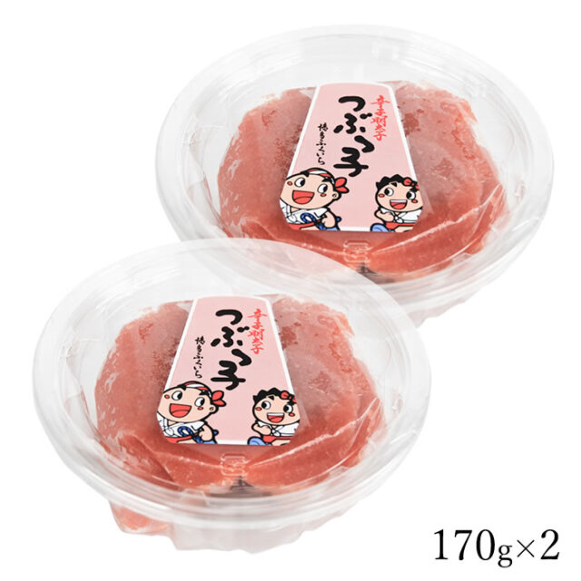 ☆GWセール5%還元☆ 新商品 つぶっこカップ 辛子明太子 バラ子 (170g×2)