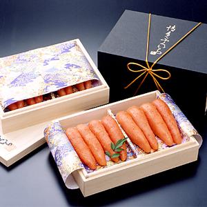 む-10_桐箱二段辛子明太子(1kg)