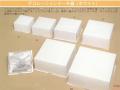 ロックデコ(白) 5 銀レースペーパー付 176x176x110 1セット200枚