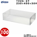 トレジャーボックス TR25-57サイズW250×D400×H50 材質PVC 1セット100枚
