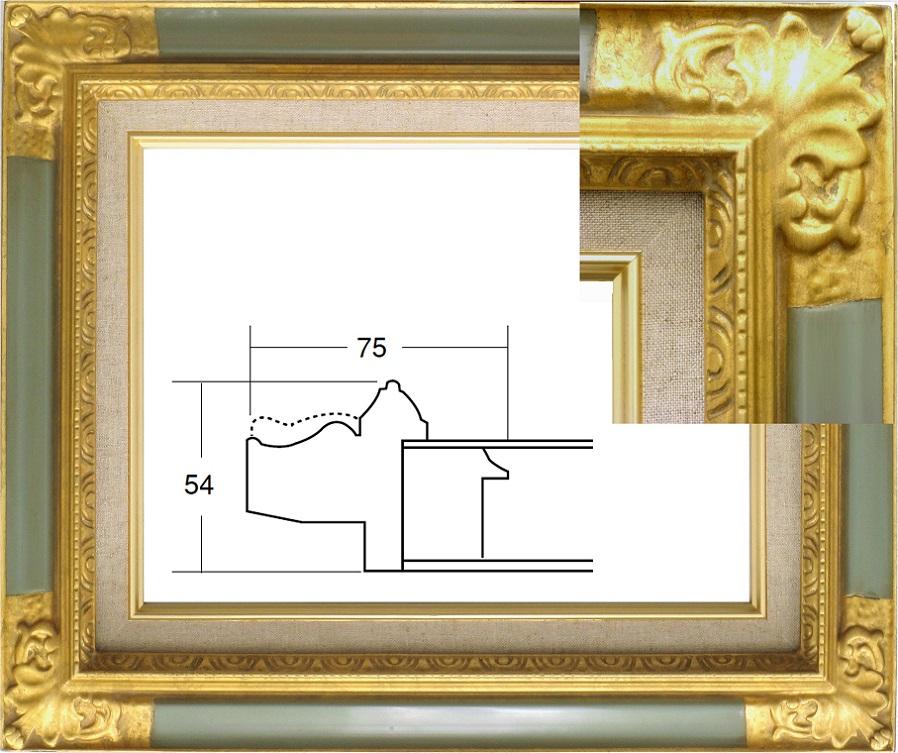 油絵用額椽 D8904 ゴールドグレー ゴールド紺
