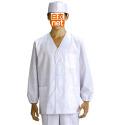 320-30 男子衿なし調理衣長袖(ブロード)