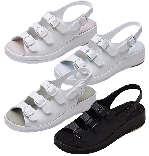 F-270 富士ゴムナース ナースサンダル 外反母趾対応 男女兼用 抗菌 防臭加工 疲れにくい 立ち仕事 滑りにくい フジゴム 医療用 看護師 介護 ユニセックス 病院 看護靴 ナースシューズ 靴 大きいサイズ ホワイト