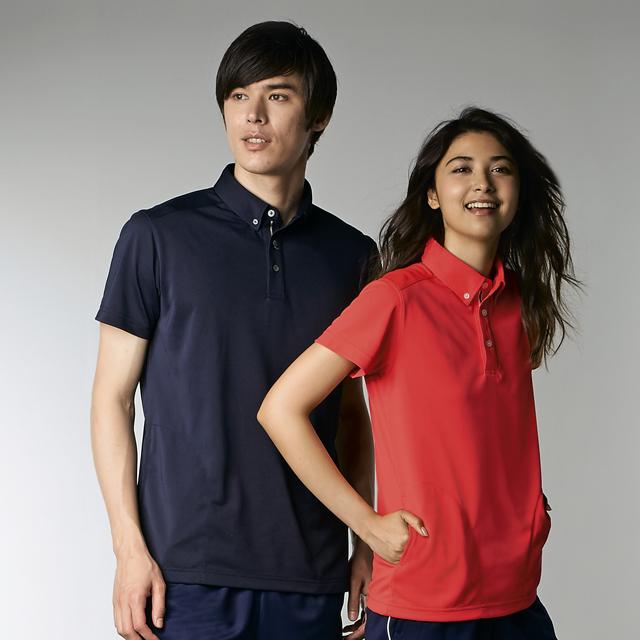 chm308 アシックス 男女兼用 ポロシャツ 半袖 モンブラン製品