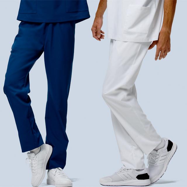 KZN551 カゼン ドクターウェア 手術スラックス スクラブパンツ 男女兼用 医療用 医師 ドクター 看護師 ナース 白 ホワイト 赤 ネイビー 紺 グリーン  大きいサイズ