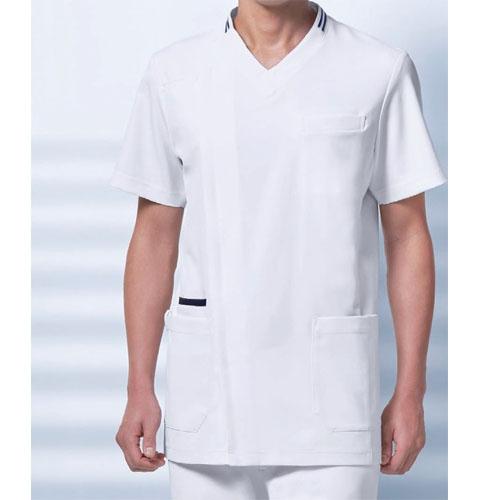 037 KAZENカゼン メンズスクラブ 白衣 半袖 医療用