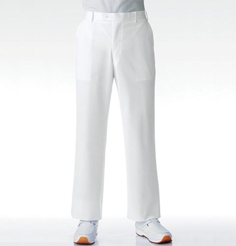 063-10 KAZENカゼン  男子スラックス[メンズ 男性用 ホワイト ノータック パンツ ズボン 医療用 白衣 大きいサイズ 4L 5L 6L]