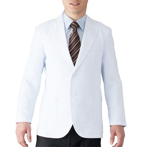 1011TW フォーク メンズジャケット シングルタイプ 男性用白衣[送料無料]