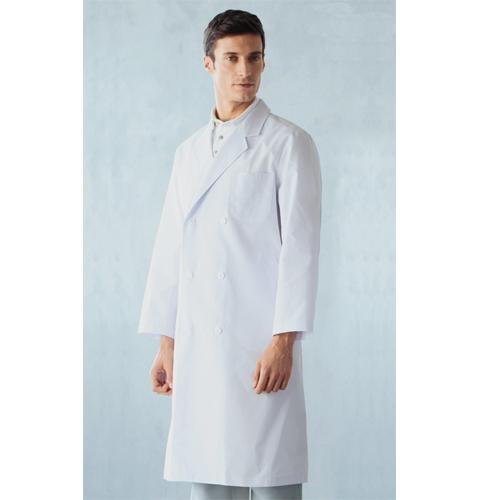 115 アプロン ポプリン メンズ診察衣ダブル型 長袖