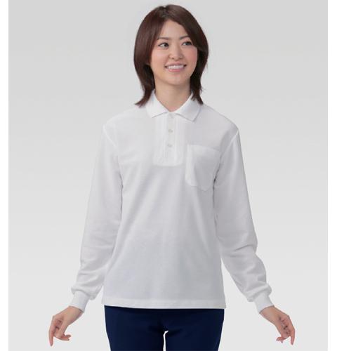 231 アプロン 裏綿カノコ ポロシャツ長袖(男女兼用)