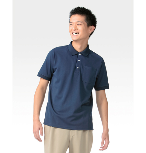 237 アプロン 綿混トリコット 全10色ポロシャツ(男女兼用)